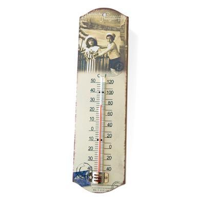 Termometer med vintage julmotiv Lavendeldockor